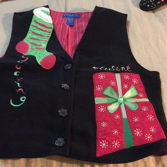 Karen Scott Christmas vest